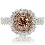 1.90 Carat Fancy Pink-Brown Diamond Ring