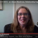 "Make Love Last? Get Noticed? relationship advice on video show  (& more) from Alison Blackman ""Lace"""