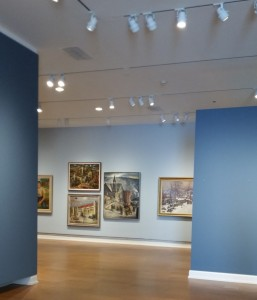 one of the galleries at the Westmoreland Musuem of American Art