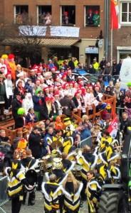 bee band play at Karneval in Dusseldorf German